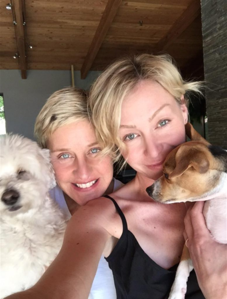 Ellen, Portia and their dogs